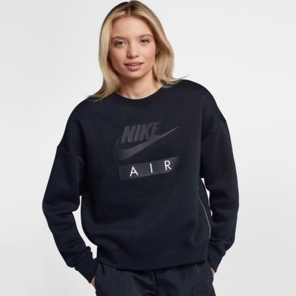 Nike Womens Rally Crew Air Side Zip Sweatshirt NWT